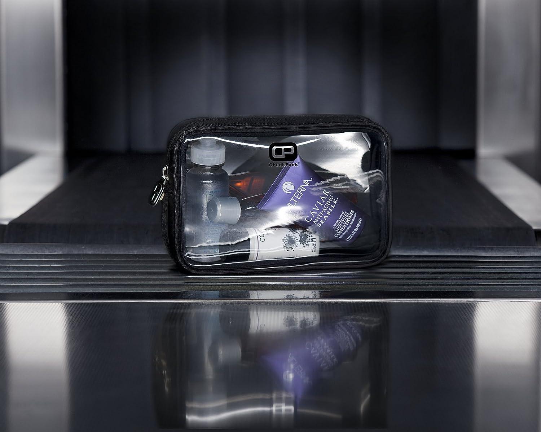 ChackPack Air Nylon Edition - Neceser transparente 1L para equipaje de mano | Bolsa de baño transparente para viajar en avión | Bolsa de cosméticos de avión ...