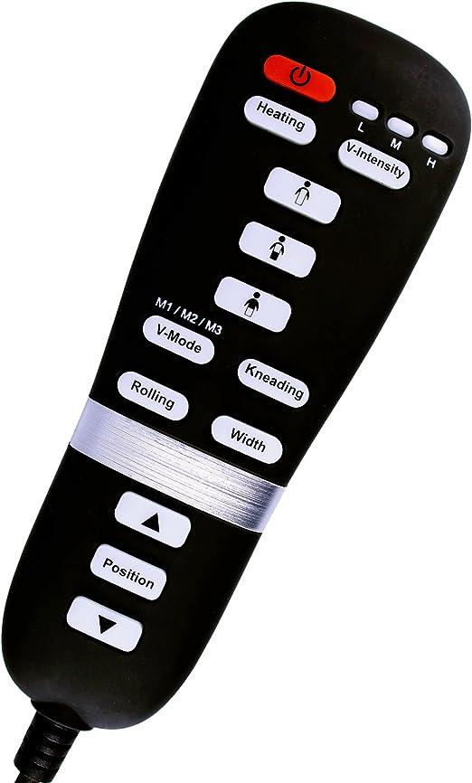 con 3 Tipi di Massaggio Calore a infrarossi Colore: Nero in Ecopelle Relax Tiga Sedia Girevole Massaggio a Rullo e Vibrazione Sedia da Ufficio con Funzione massaggiante Shiatsu impastatore
