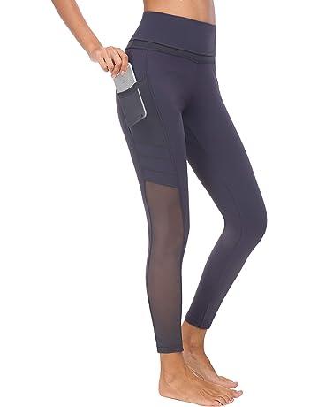 finest selection 93b6a 712c0 Flatik Damen Sport Leggings (Blickfang 12 Farben) Hohe Taille Fitnesshose  Blickdichte Leggins Glanz Training