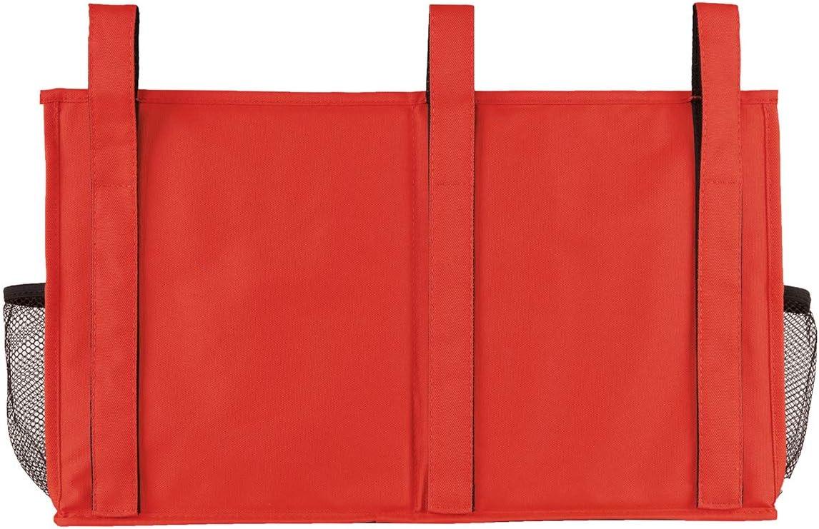 Elezay per camera da letto portaoggetti portaoggetti da comodino 8 tasche Arancione 19x11 IN