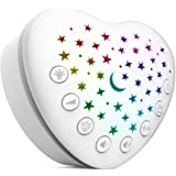 BEREST A13 White Noise Machine & Baby Sleep Soother with 15 Soothing Sounds & Projector Star Night Light, Cry Sensor…