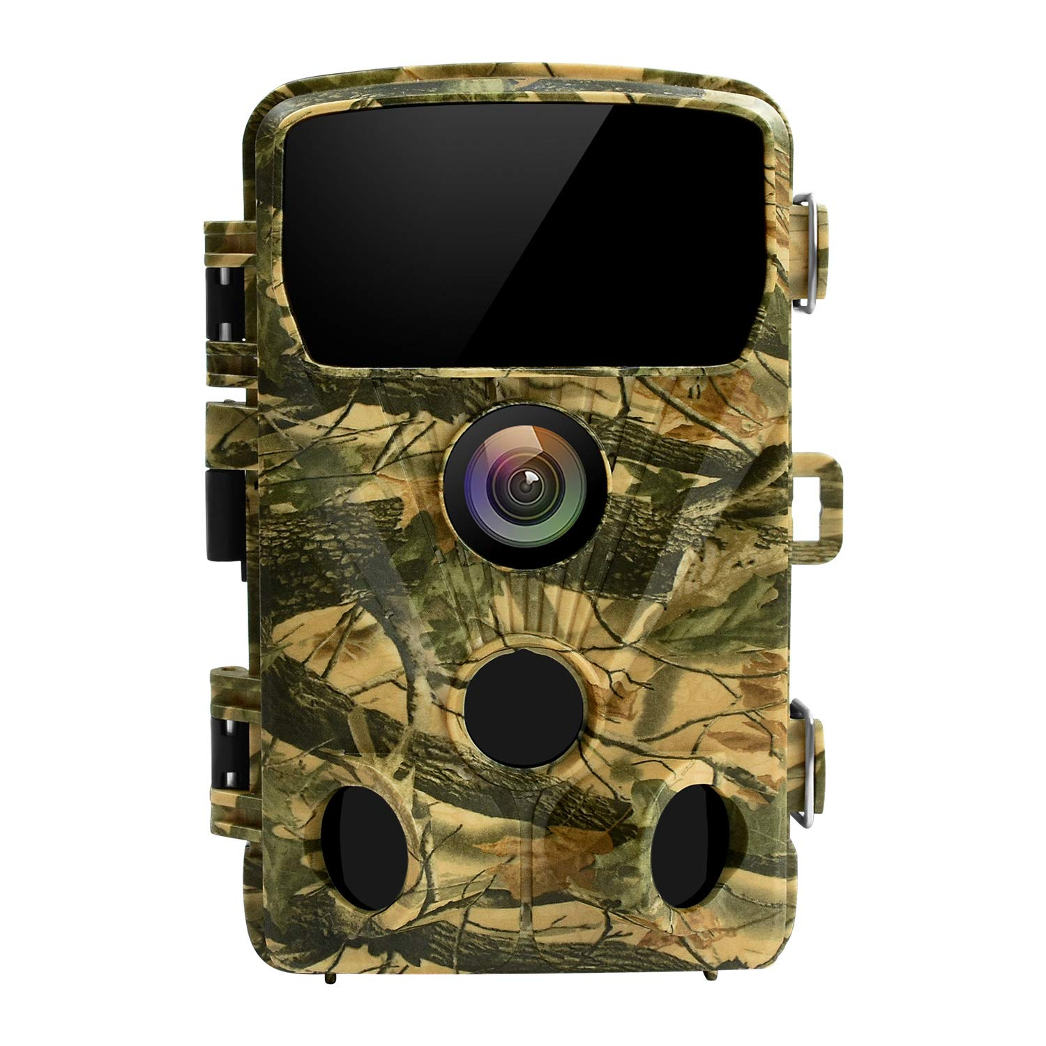 LETSCOM 14MP Trail Game Camera 0.4S Trigger Speed, Waterproof HD Wildlife Scouting Cam 42 No-Glow IR LEDs, 120° Detection Angle for Hunting and Outdoor Surveillance Yellow by LETSCOM