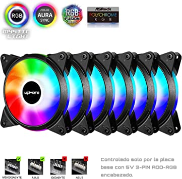 upHere Alto Rendemento Ventilador de PC 120mm: Amazon.es: Electrónica
