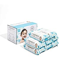 The Honest Company Baby Wipes - Pure and Gentle   Plant-Based   Alcohol, Fragrance and Paraben Free   Hypoallergenic Honest Wipes   576 Count