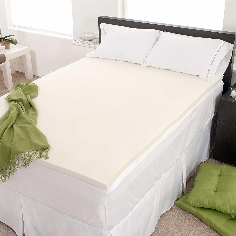 FoamRush 3 Thick Queen Size Memory Foam Pad Mattress Topper Made in USA