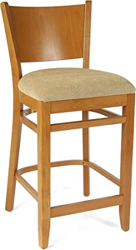 Beechwood Mountain BSD-86B24-C Solid Beech Wood Counter Stool in Cherry for Kitchen and dining