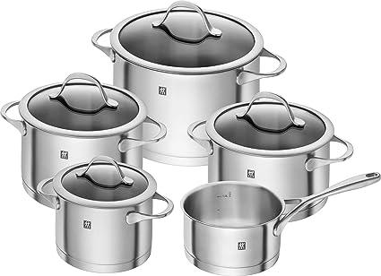 WMF Batería de Cocina, Acero Inoxidable, Gris, 24 cm: Amazon ...