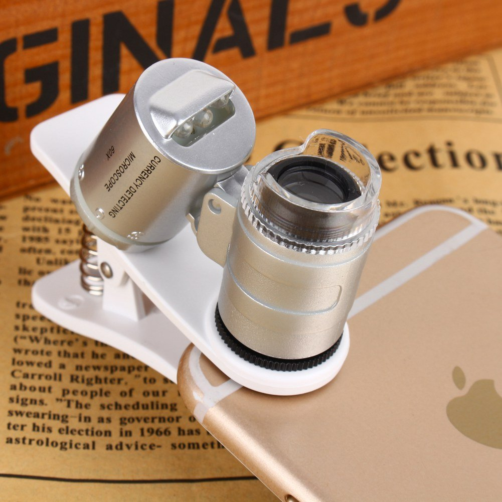 60X Magnifying Glass Mobile Phone Lens Camera LED Microscope Magnifier with Clip For iphone by Zerone (Image #5)
