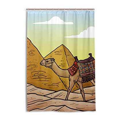 Amazon LEISISI Egyptian Pyramids And Camels Fashion Shower