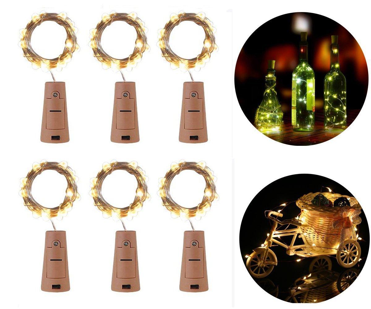 Weinflaschenlampen, Vdealen LED Korkleuchten für Flaschen ...