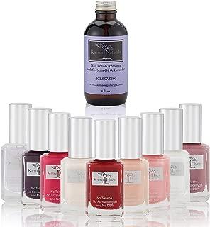 product image for Christmas Nail Polish Karma's Splash - Natural Nail Polish Base Coat Set – Lavender Nail Polish Remover - NonToxic Nail Art   Vegan and Cruelty-Free Nail Paint (Pack of 10)