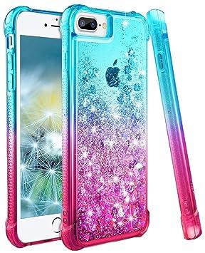 wlooo Funda para iPhone Fundas iPhone iPhone Glitter -