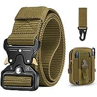 Tactische Riem Voor Heren 1,5 inch Zware Riem, Cobra Gespriem Nylon Militaire Stijl met Metalen Gesp Met Snelsluiting…