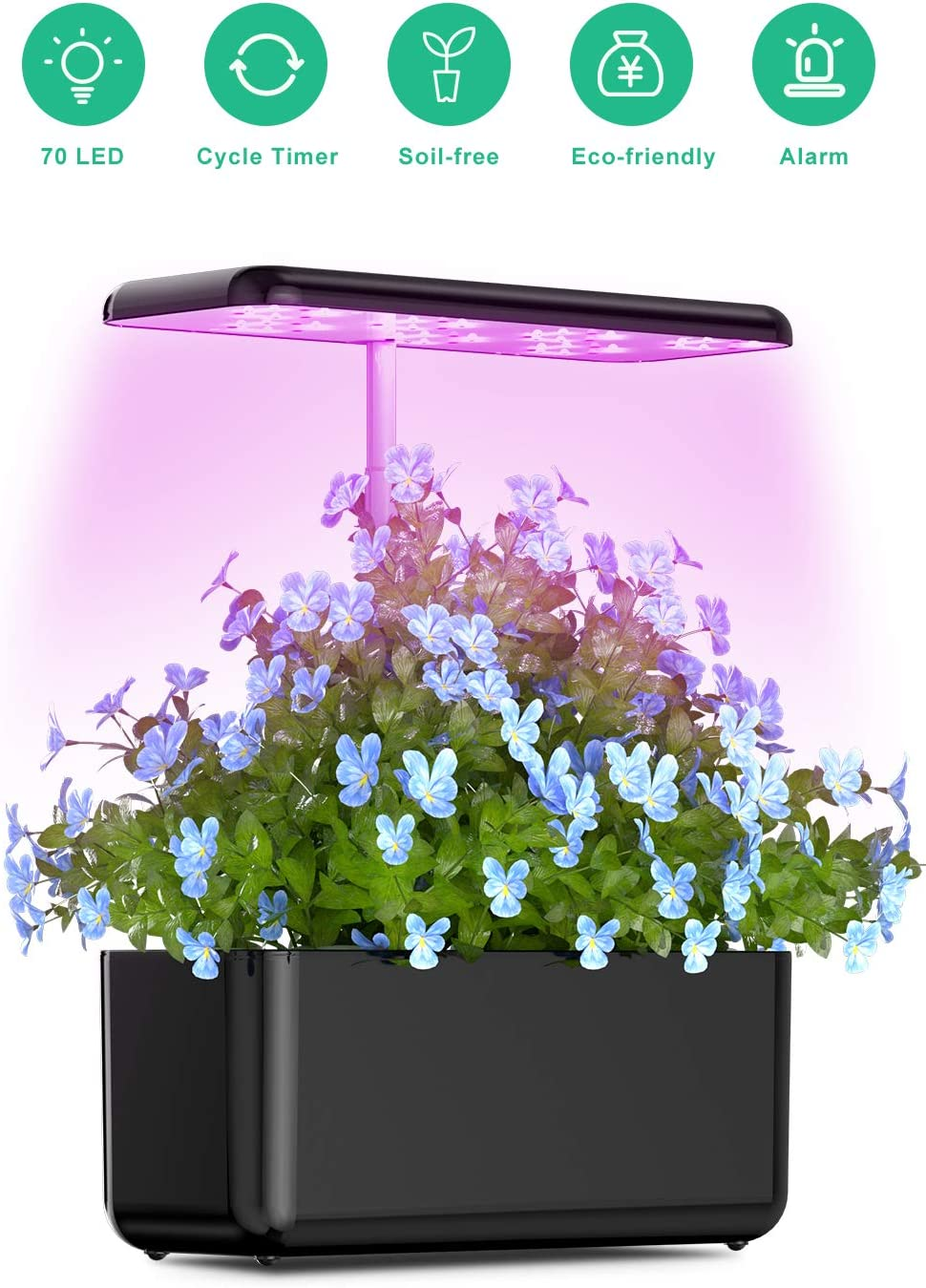 Hydroponic Indoor Growing System, Vogek Small Herb Garden Grow System Kit with LED Grow Light, Smart Garden for Plant Growing, Automatic Timer Germination Kit, Adjustable Height