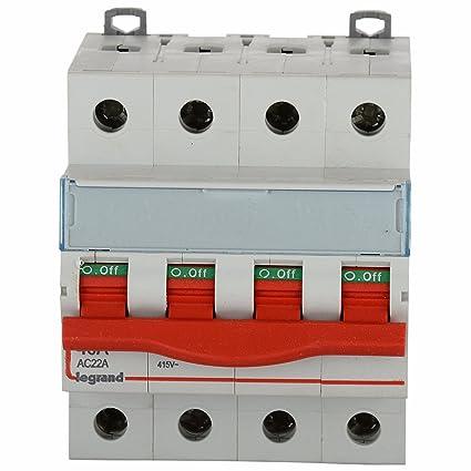 Legrand DX 3 40-Amp 4-Pole MCB Isolator 406519: Amazon.in: Home ...
