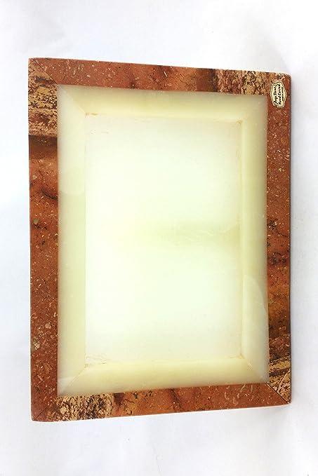 Portaretrato de Ónix Bicolor en Forma de Rectángulo Vertical 30 x 23 cm
