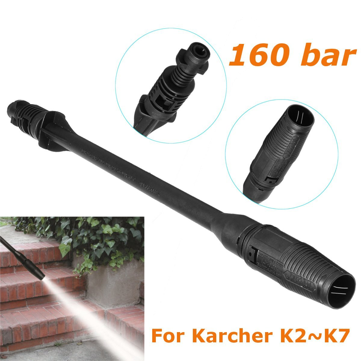 SAFETYON Car Washer Water Jet High Pressure Power Washer 160bar Spray Nozzle Watering Gun Home Garden Hose Pipe Wand Attachment Best Choice Cleaning