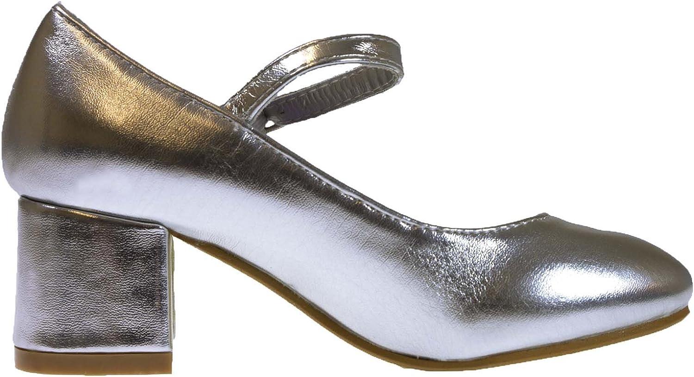 Lora Dora Chaussures Mary/Jane de f/ête /à talon bas avec bride pour fillettes