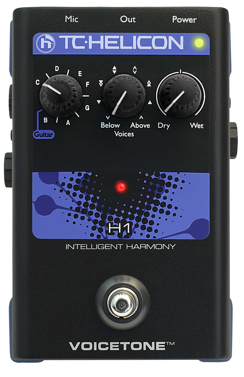 TC Helicon Singles VoiceTone H1 Vocal Effects Processor 996012005