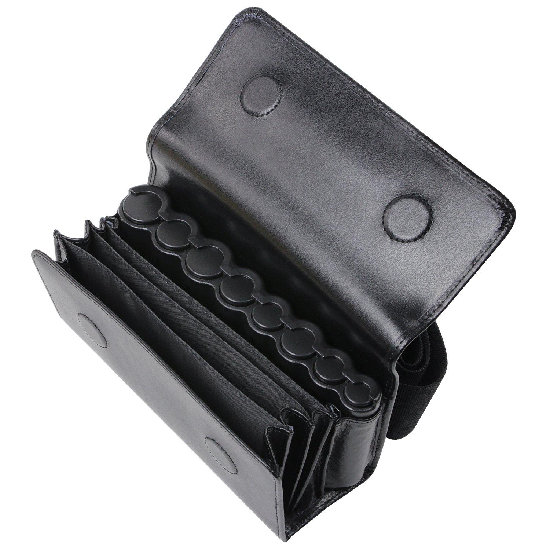 e62f03539b HMF 48830-02 Borsa da Cameriere, Portafoglio di cameriere, incl. fasciatoio  di monete per Euro e cintura di trasporto da 20,5 x 6,5 x 10 cm, nero