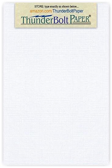 Amazon.com: 100 hojas papel blanco fino 80lb cubrir Lino ...