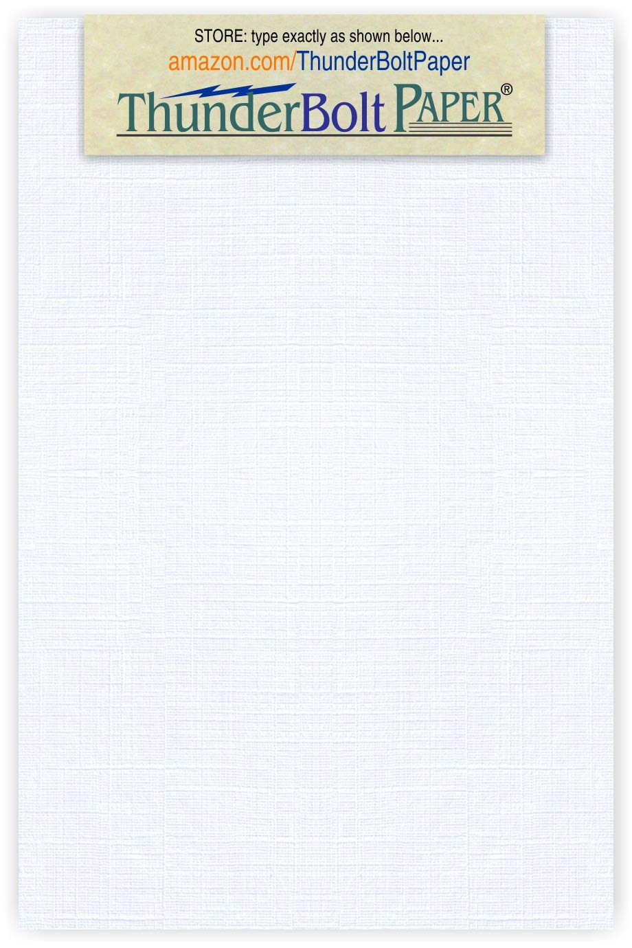 500 White Linen 80# Cover Paper Sheets - 4'' X 6'' (4X6 Inches) Photo|Card|Frame Size - 80 lb/Pound Card Weight - Fine Linen Textured Finish - 96 Bright Cardstock