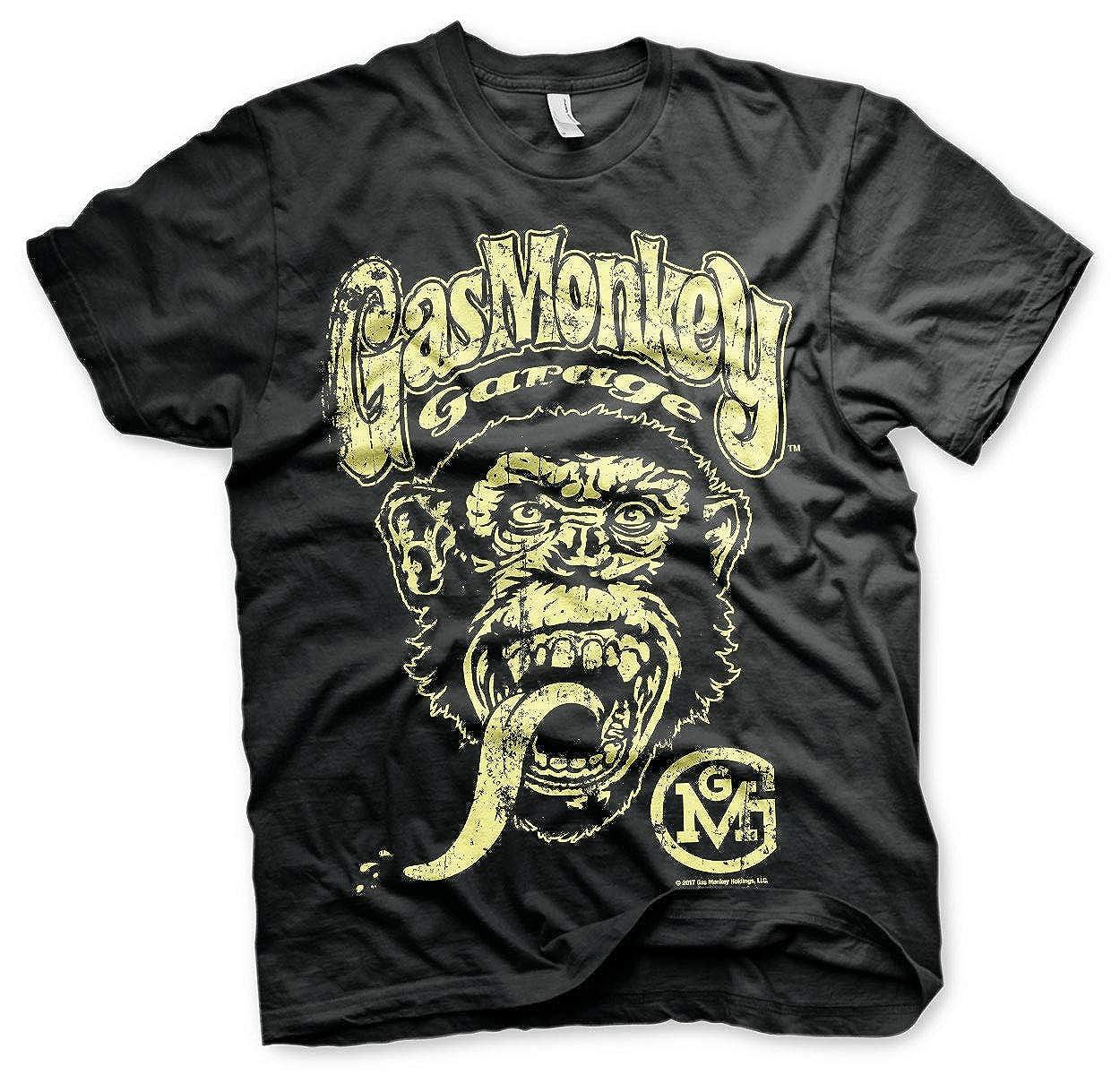 Gas Monkey Garage Oficialmente Licenciado Big Brand Logo Big ...