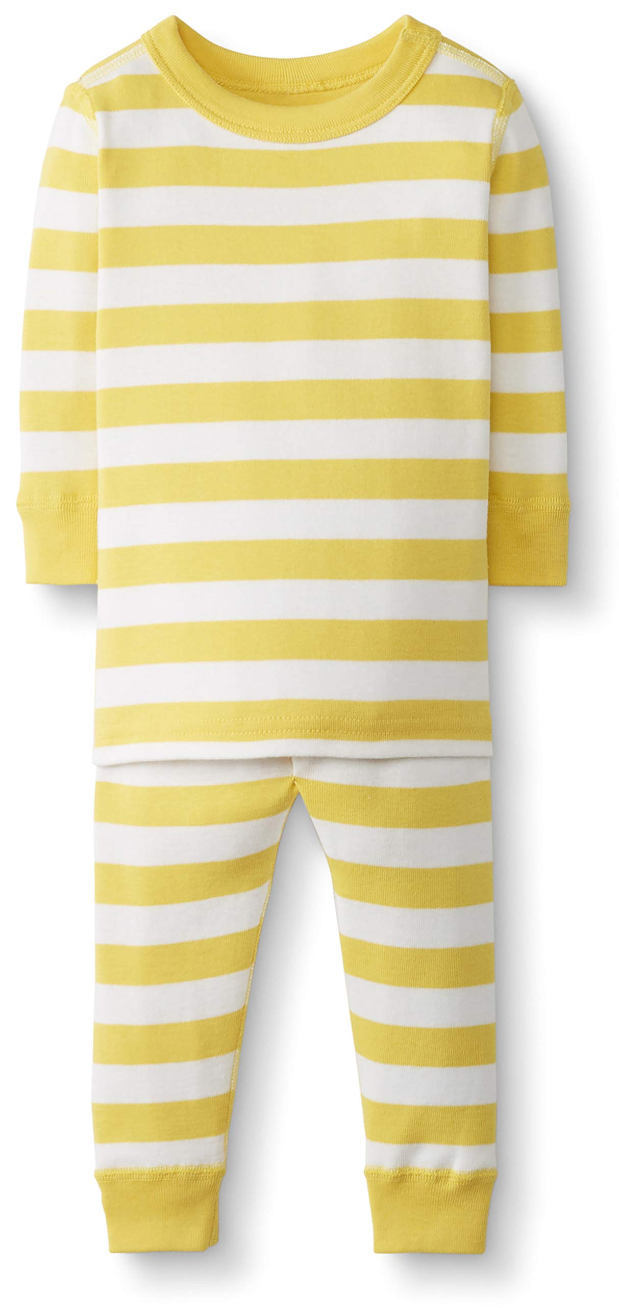 Hanna Andersson Baby/Toddler 2-Piece Organic Cotton Pajama Set Swedish Yellow/Hanna White -50 by Hanna Andersson