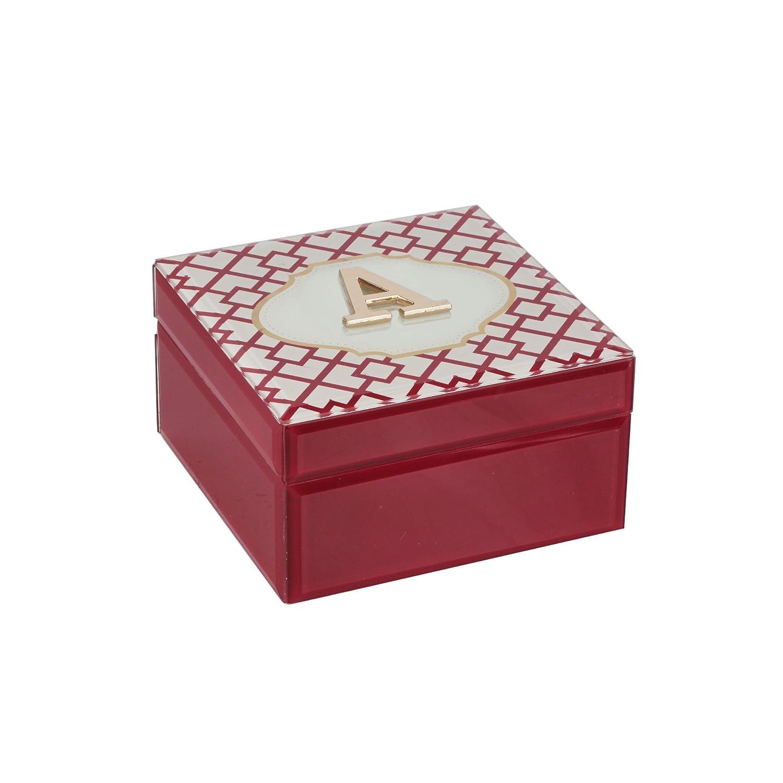 American Atelier Monogram Geometric Letter A Jewelry Box