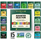product image: VAHDAM, Tea Variety Pack | 15 FLAVOURS | Award Winning Tea Sampler | Black Tea, Green Tea, Oolong Tea, Chai Tea, Herbal Tea | Long Leaf Pyramid Tea Bags | Best Selling Tea Gift Set & Tea Gift Box
