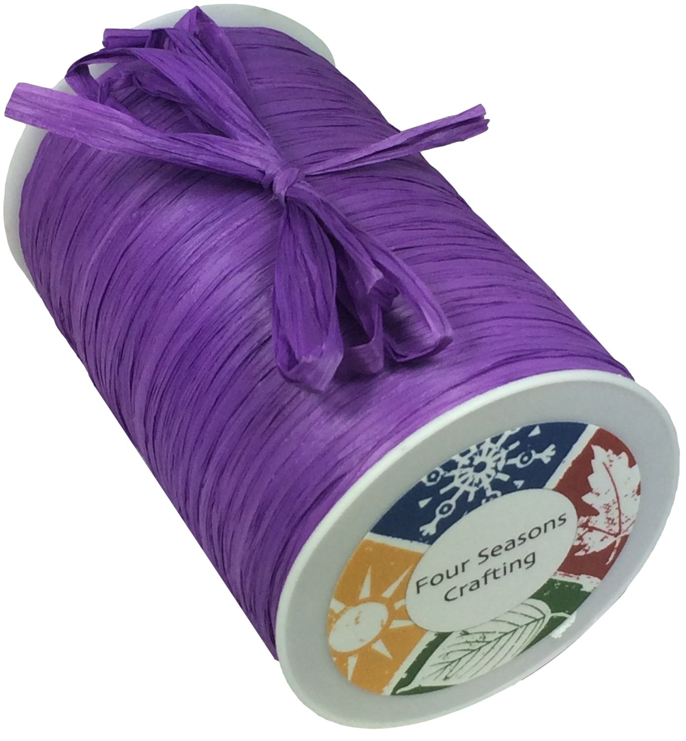Purple Four Seasons Crafting Matte Finish Raffia Ribbon 1//4 X 100 Yds
