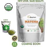 Dodjivi Organic Matcha Green Tea Powder, Premium Ceremonial Grade (1st Grade), Antioxidants Organic, High-End Green Tea Powder, Extraordinary Quality Matcha Tea, Energy Booster, 100g
