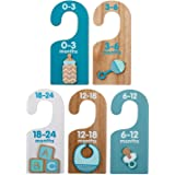 Hallmark Baby Essentials Wood Hanger Dividers for Boys, Set of 5