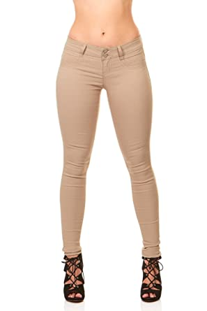 6050fbb4820 Ultra Skinny Cigarette Butt Lift Slim Fit Extra Stretch Junior pants Jeans  Size 1 in Khaki