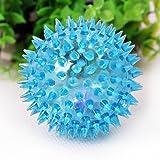UEETEK Chien jouet grincer balle Indestructible avec Bounce haute pour petit milieu agressif mâcheurs 2,36 inch(Blue)