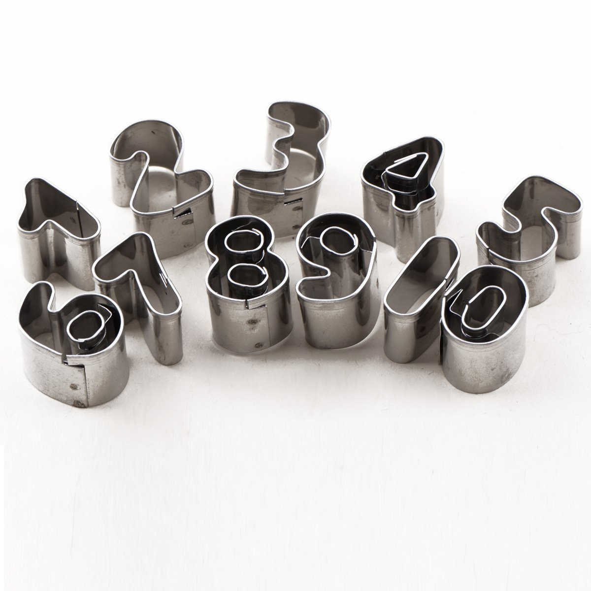 Letters and Numbers Shaped Set of 37 Metal Cutters for Cake Decorating, 37 pcs Switty
