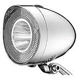 UNION LED Batterie Scheinwerfer in klassische Retro Form chrom Optik 20 Lux