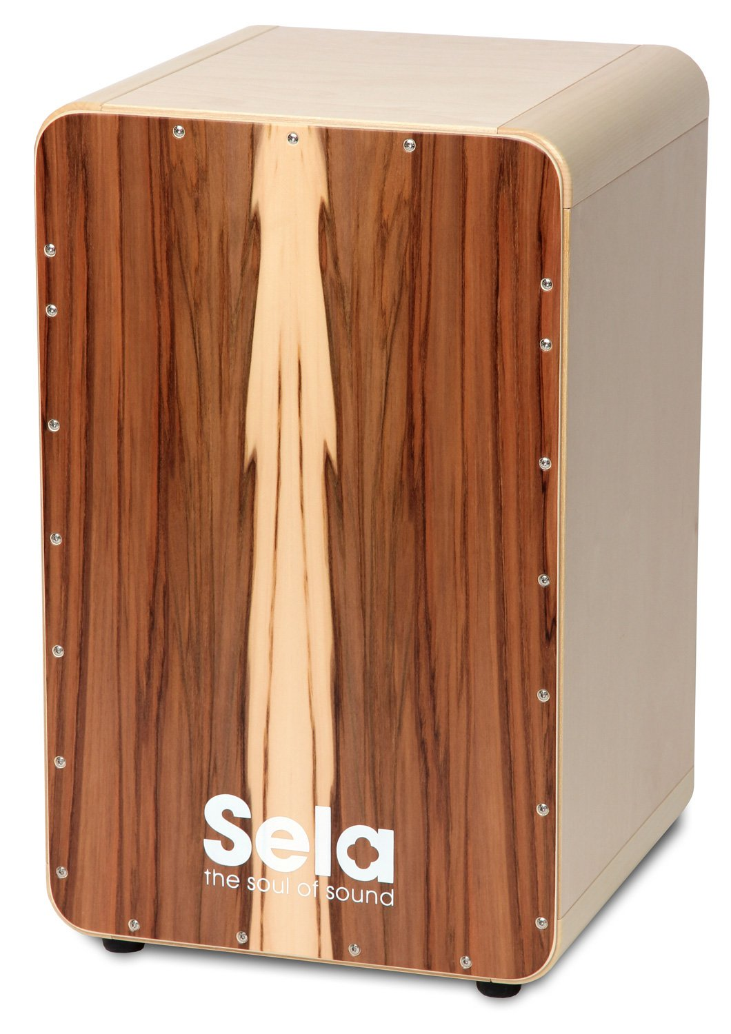 Sela SE 002A CaSela Satin Nut Professional Cajon with Removable Snare System and Special Clap Corners by sela