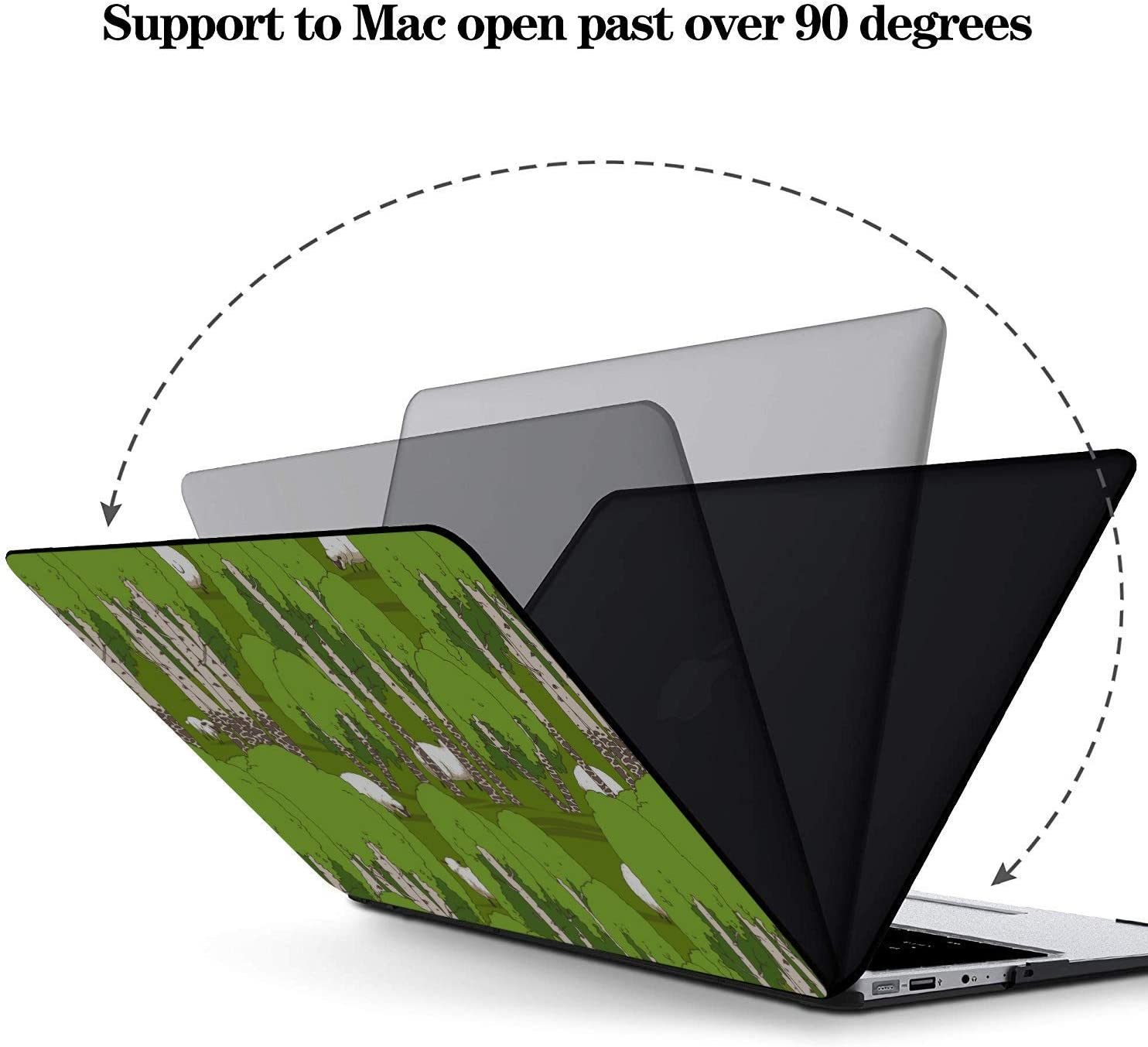 Case MacBook Pro 13 Sheep Retro Wild Animal Naturel Plastic Hard Shell Compatible Mac Air 11 Pro 13 15 MacBook Pro Case Protection for MacBook 2016-2019 Version