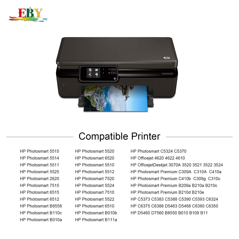 EBY 364XL Alta Capacidad Cartuchos de Tinta Reemplazo para HP 364 Compatible con HP Photosmart 5520 5510 5522 5524 6520 5514 5515 4622 7510 7520, HP ...