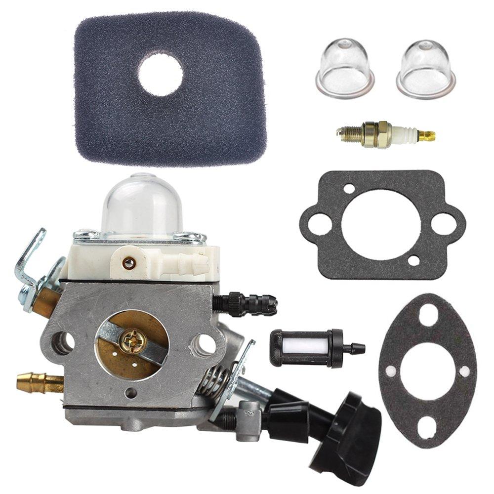 C1M-S261B Carburetor with Primer Bulb Fuel Filter Air Filter Spark Plug for STIHL SH56 SH56C SH86 SH86C BG86 BG86CE BG86Z BG86CEZ Blower 4241 120 0616 by Buckbock