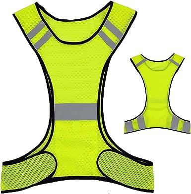 Night Reflective Vest Running Cycling Adjust Safety Strip High Visibility Belt