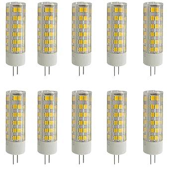 Aoxdi 10X Bombillas LED G4 Lámpara 7W, Blanco Cálido, Dimensiones (OXL):