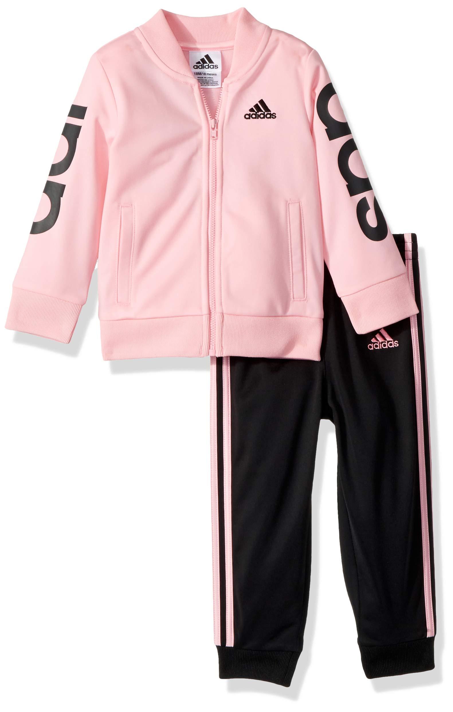 Galleon - Adidas Baby Girls Zip Jacket And Pant Set 08e2d9c73