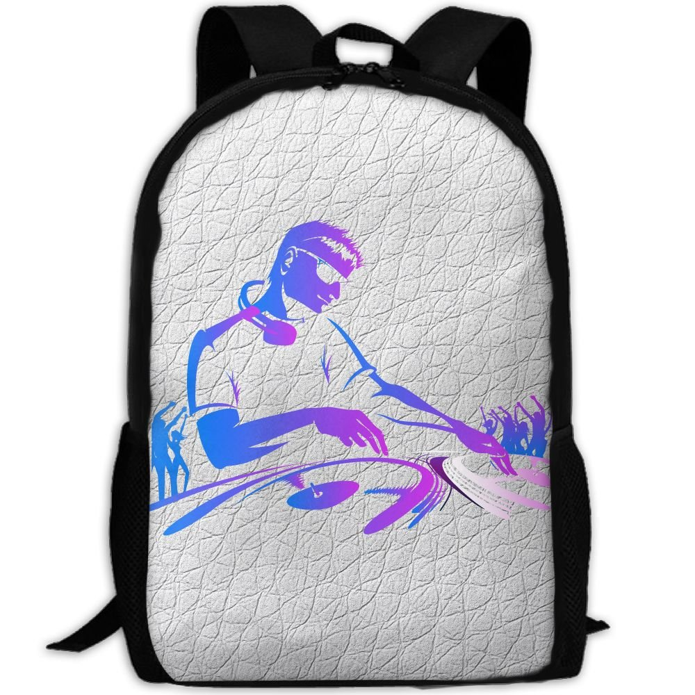 DJ Mode Double Shoulder Backpacks For Adults Traveling Bags Full Print Fashion