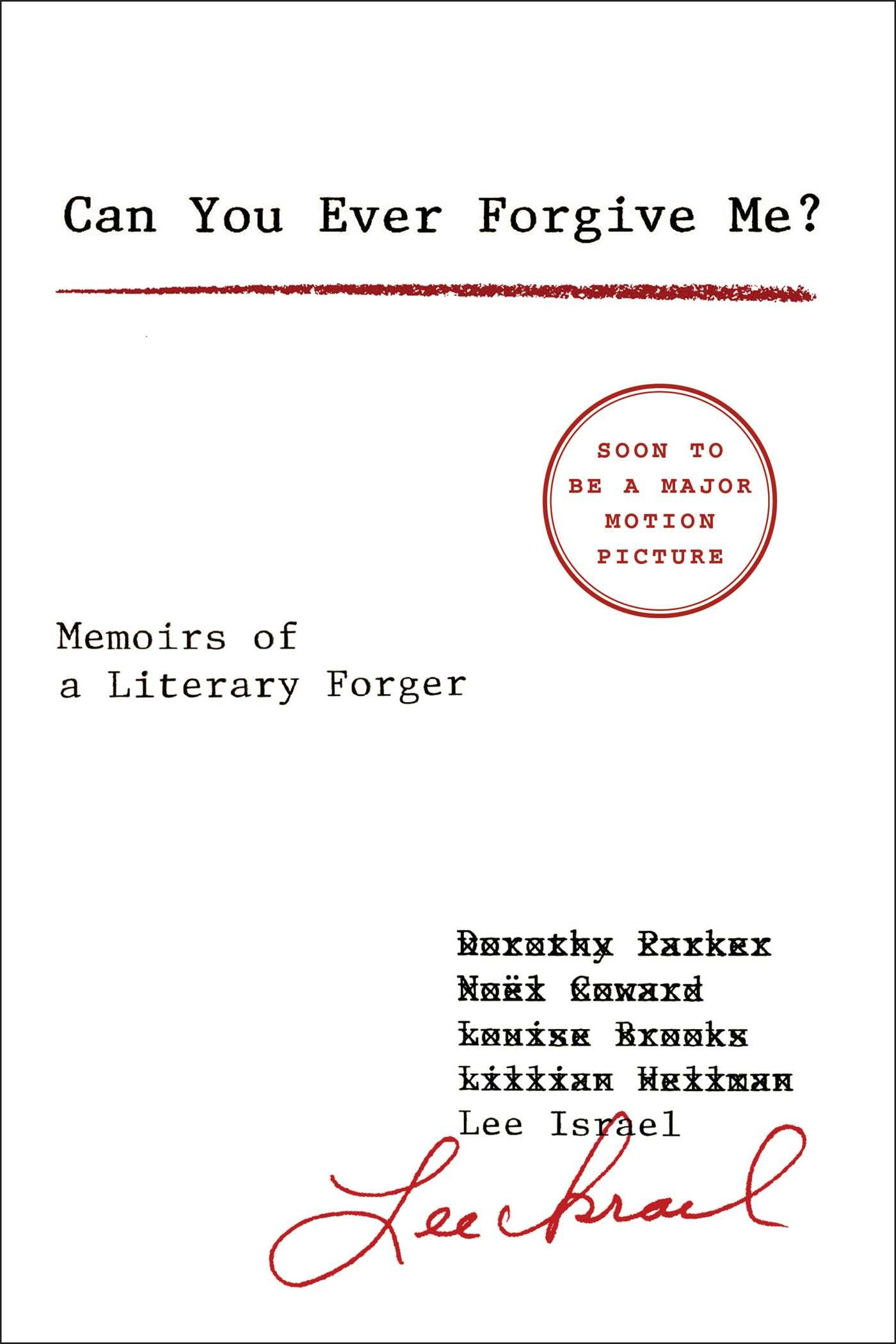 "Cover for ""Can you ever forgive me"""