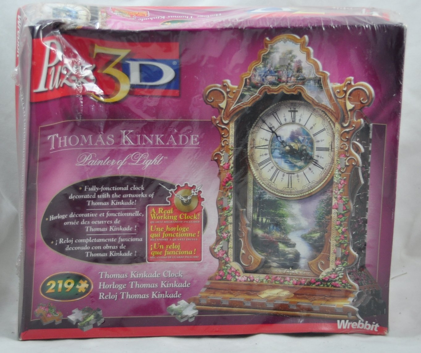 Puzz 3D Thomas Kinkade Real Working Clock Puzzle 219pc