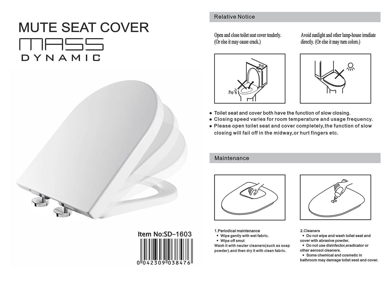 DShape Bathroom Soft Close BLACK Toilet Seat Adjustable TOP Self