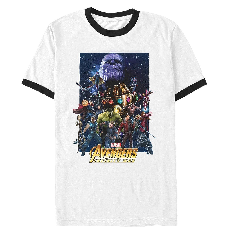 Marvel Mens Avengers: Infinity War Character Collage Ringer ...