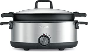 Breville The Flavour Maker Slow Cooker, Brushed Stainless Steel BSC500BSS